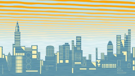 towerblock: Editable vector illustration of a city skyline Illustration