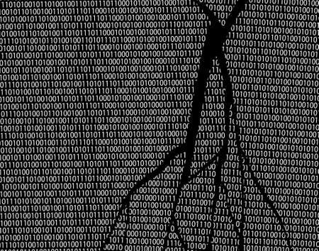 vector data: Editable vector abstract design of broken code
