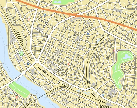 generic: Editable vector map of a generic city with no names Illustration