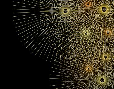 radiating: Resumen editable ilustraci�n vectorial de l�neas que irradian