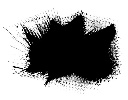 vibrating: Editable vector illustration of a large vibrating ink spill Illustration