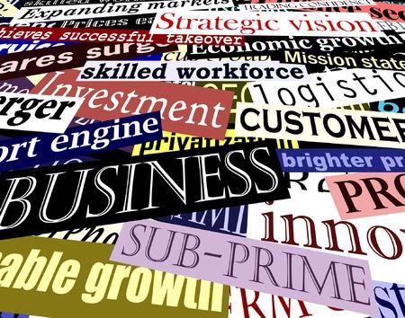 cliche: Editable ilustraci�n vectorial de las empresas relacionadas con los titulares de cada t�tulo por separado objeto