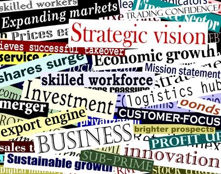 phrases: Editable ilustraci�n vectorial de las empresas relacionadas con los titulares de cada t�tulo por separado objeto