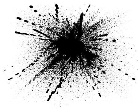 Editable vector illustration of a splattered ink drop Stock Vector - 2943299