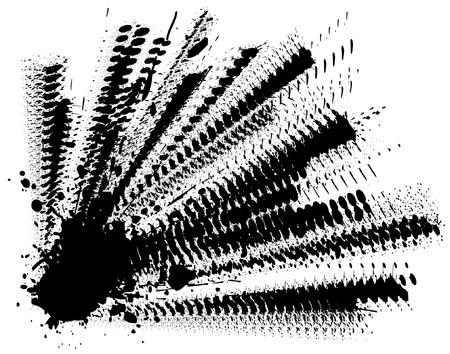 Abstract editable vector illustration of splattered ink Stock Vector - 3017562