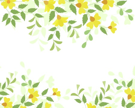 Editable vector illustration of a flowering plant border Vector