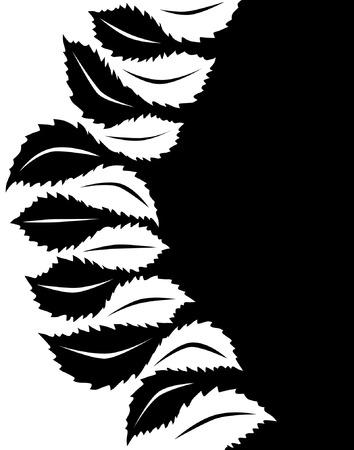 hedge trees: Illustrated vector design of interlocking leaf shapes Illustration