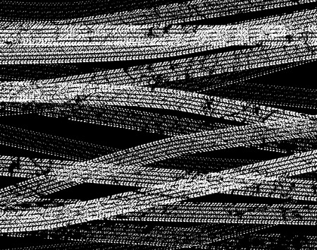 Editable vector background illustration of tire tracks Stock Vector - 3188645