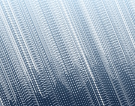 대기의: Editable vector illustration of torrential rain in a mountain landscape 일러스트