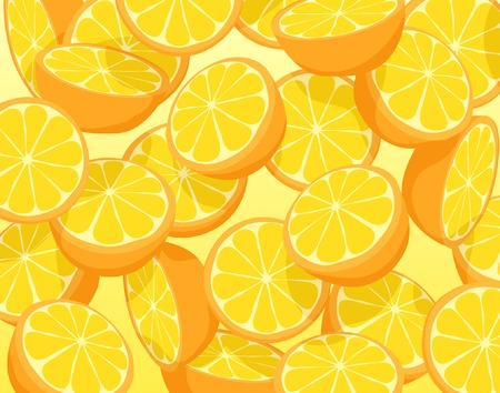 Editable vector illustration of falling sliced oranges Vector