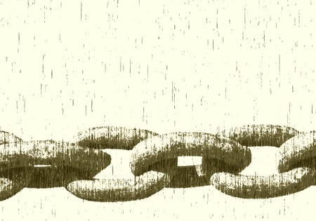 hinder: Editable vector illustration of a heavy chain with grunge