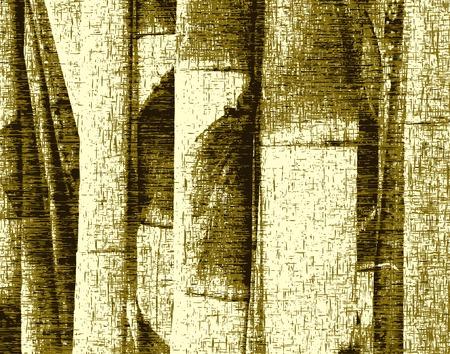 clump: Editable vector grunge design of bamboo stems