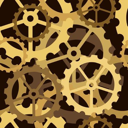Editable vector seamless tile of cog wheels Illustration