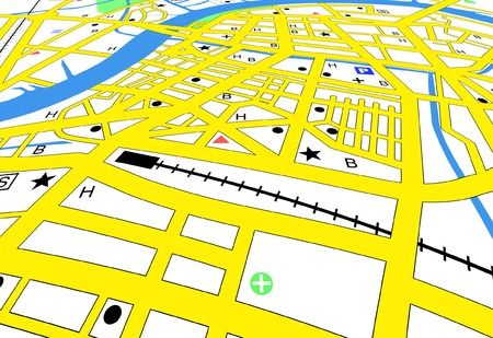 Editable vector streetmap of a generic city with no names Vector