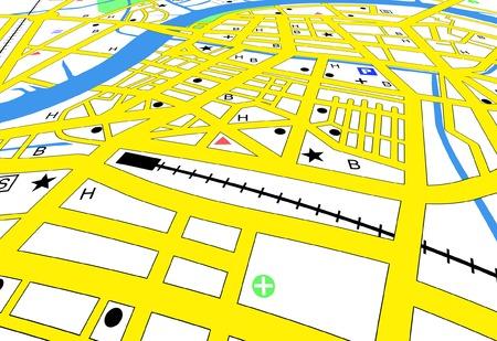 Editable vector streetmap of a generic city with no names Vector