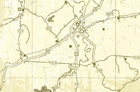 roadmap: Editable vector illustration of an old generic roadmap