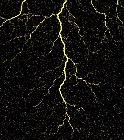 Vector illustration of a lightning bolt with grunge