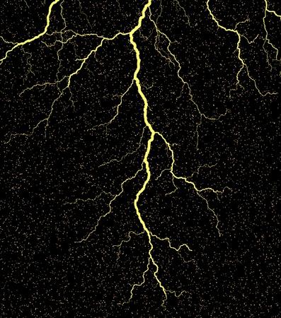 rayo electrico: Vector ilustraci�n de un rayo con el grunge
