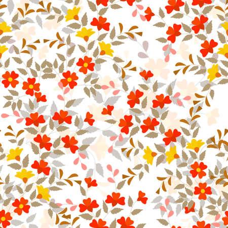 undergrowth: Editable vector seamless tile of generic plants