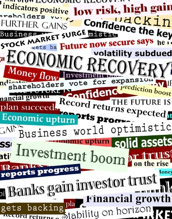 Background editable vector design of newspaper headlines about economic recovery Illustration