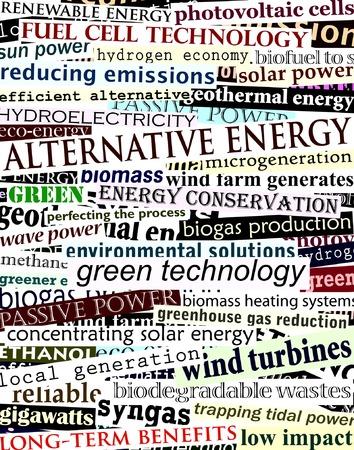 Background editable vector illustration of alternative energy newspaper headlines Stock Vector - 3955680