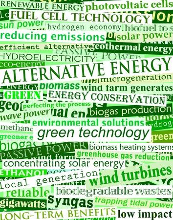 Background editable vector illustration of green headlines about alternative energy Stock Vector - 3955681