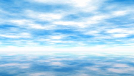 Background illustration of a sky and reflection Stock Illustration - 3978664