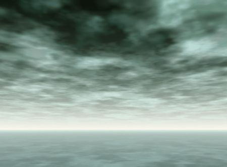 Background of gray cloudy skies over a calm ocean Stock Photo - 3978669