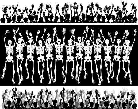 Groups of editable vector skeletons with each skeleton as a separate object Vector