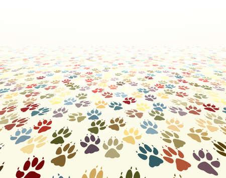 huellas de perro: Ilustraci�n vectorial editable huellas de perro Vectores