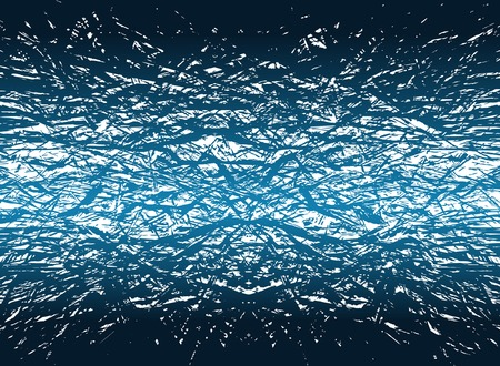 fracturing: Abstract editable vector illustration of ice-ike grunge fracturing