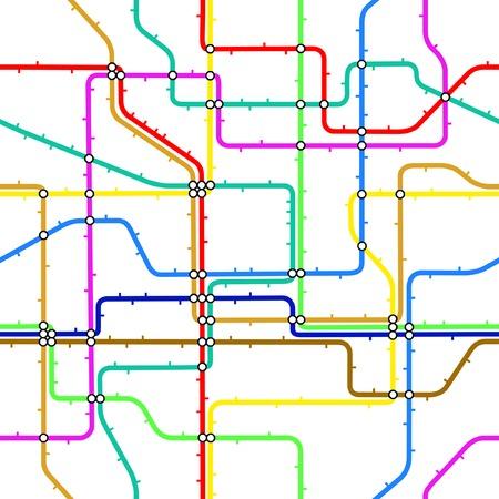 Seamless editable vector tile of a generic subway map Stock Vector - 4867389