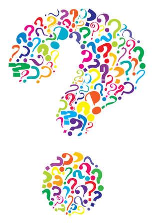 punto interrogativo: Vettoriale modificabile domanda formata da molti punti interrogativi