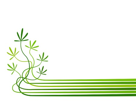 the sprouting: Abstract editable vector background of plants with copy space Illustration