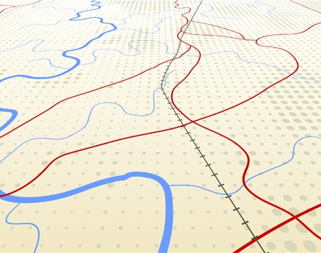 Editable vector illustration of an angled generic roadmap without names