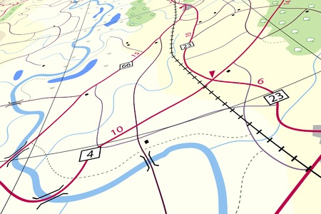 landuse: Editable vector illustration of a generic roadmap without names