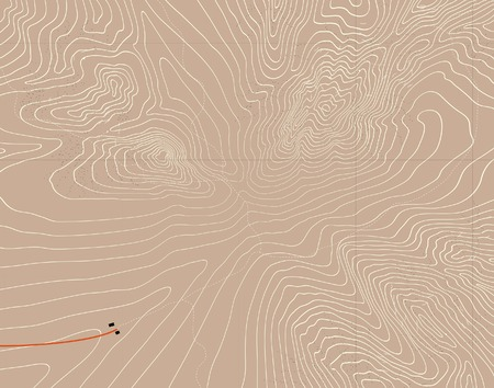 nameless: Editable vector illustration of a generic contour map of mountains Illustration