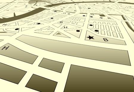 角度のついた: ベクトル角度の名前なしでジェネリック市 streetmap