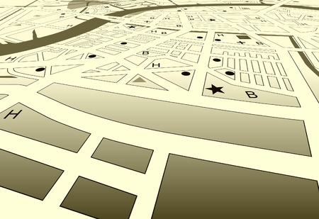 Vector angled streetmap of a generic city with no names Vector
