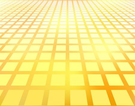 receding: Abstract editable vector illustration of receding squares Illustration
