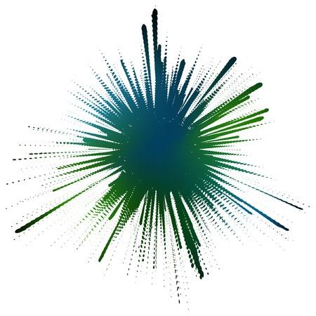 masking: Ilustraci�n vectorial editable de una bienvenida de tinta formulada por enmascarar una malla de color de fondo