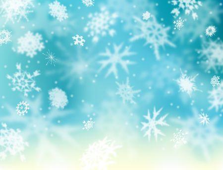 softly: Background illustration of softly falling snowflakes