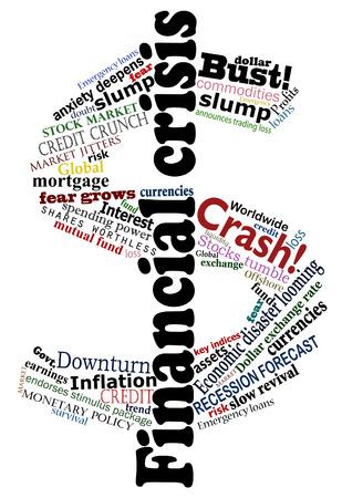 Vector dollar sign made financial crisis headlines Stock Vector - 6265514