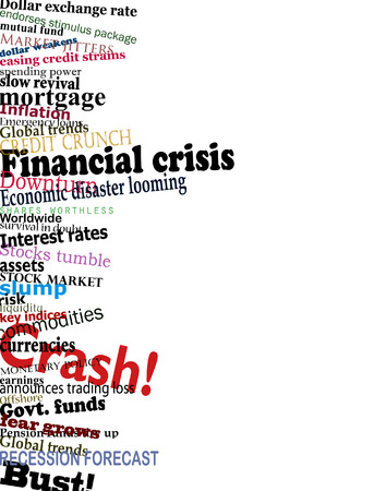 Vector design of economic problem headlines with copy-space Stock Vector - 6265511