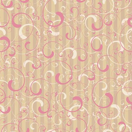 Editable  seamless tile wallpaper of twirl shapes Stock Vector - 7118857
