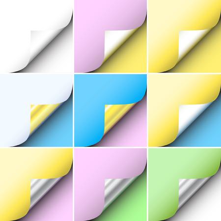 peeling: Set of editable vector peeling corners of paper