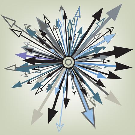 flecha azul: Elemento de dise�o editable abstracta de flechas