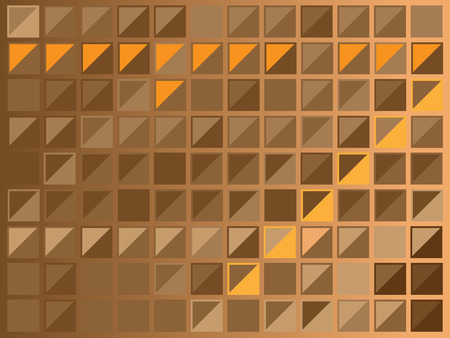 frosted window: background design of brown squares