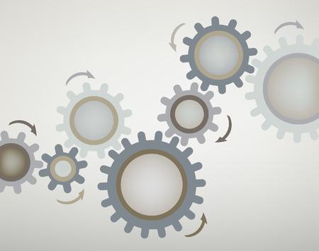 cogs: Progettazione modificabile astratta di ruote dentate utilizzando trame sfumate  Vettoriali