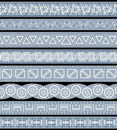 trim: Set of abstract editable stripe designs